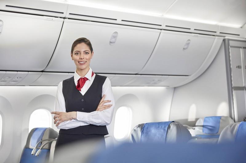 Stewardessen achten für den Notfall darauf, wie stark ihre Passagiere sind.