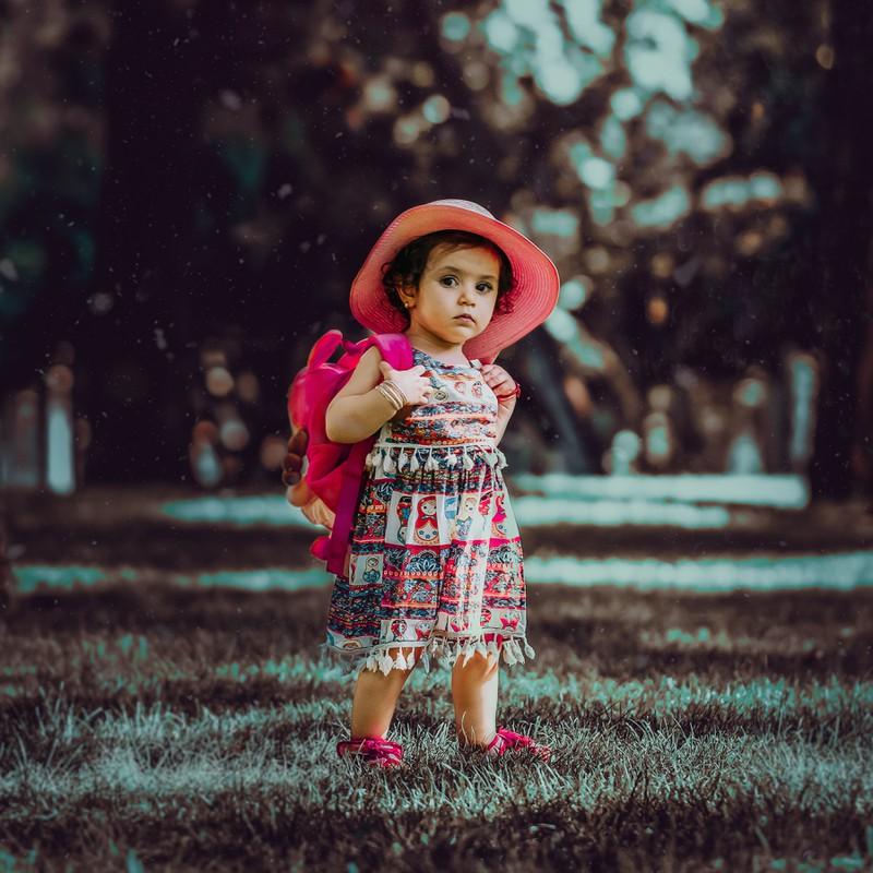 Das kleine Mädchen wird sich später einmal an ihrer italienischen Herkunft erfreuen.