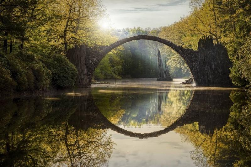 Der Kromlauer Park in Sachsen ist wunderschön.