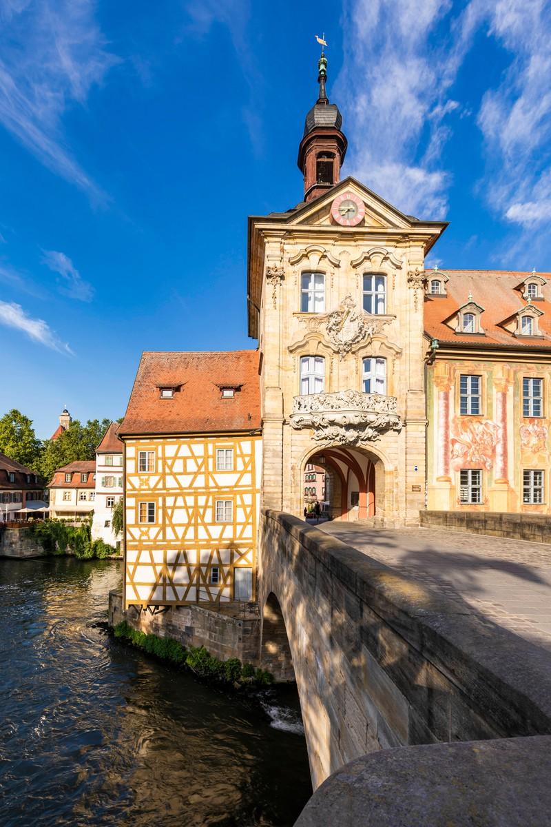 Was für ein traumhafter Ort:  Das Alte Rathaus in Bamberg