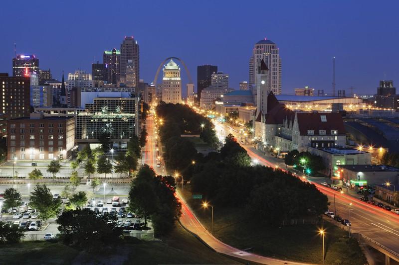St. Louis in den USA ist ein beliebtes Reiseziel