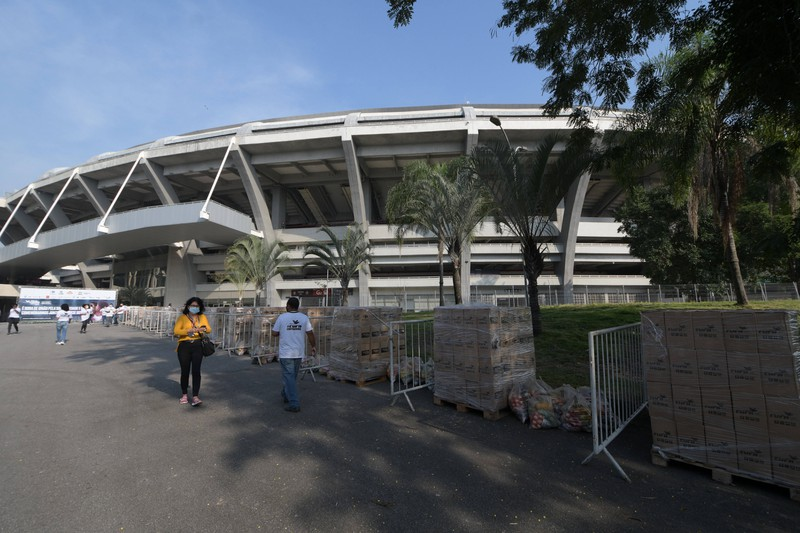 In diesem Stadion fand das Finale der Fußball-WM 2014 statt.