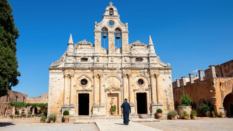 Wer Kreta besucht, sollte unbedingt das Kloster Arkádi auf der Urlaubsinsel Kreta sehen.