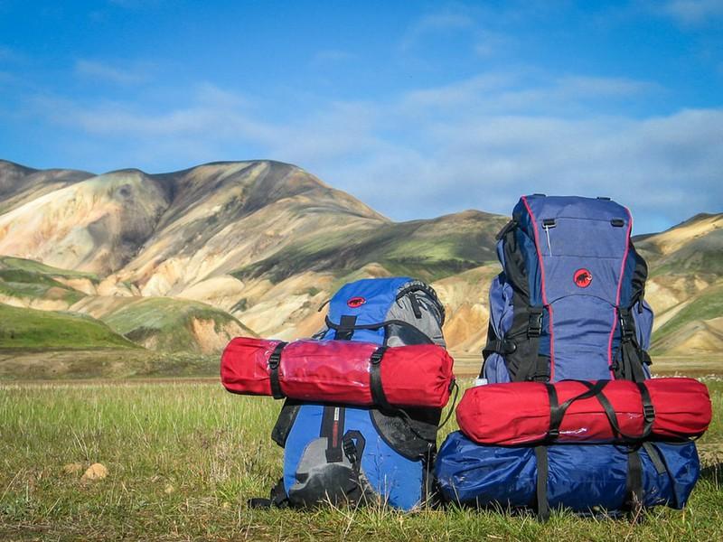 Backpacking-Rucksäcke, die auf Reisen verwendet werden