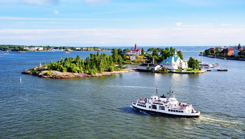 Boot vor Helsinki
