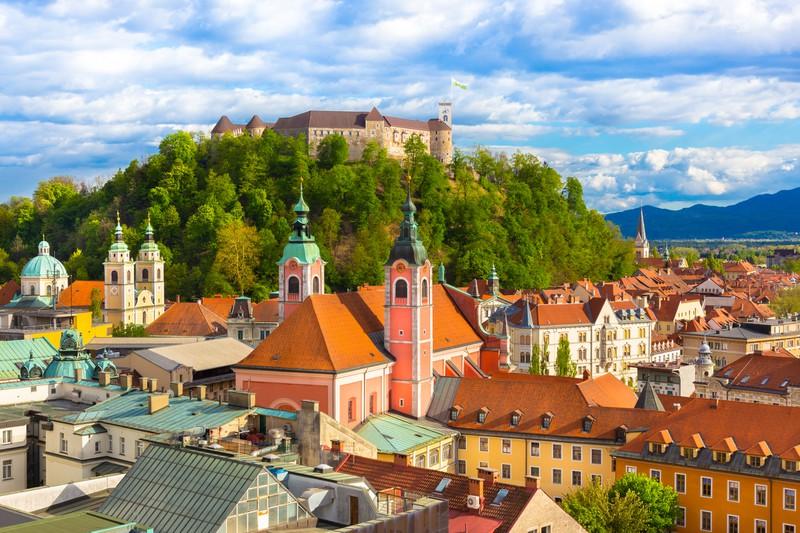 Ljubeljana in Slowenien