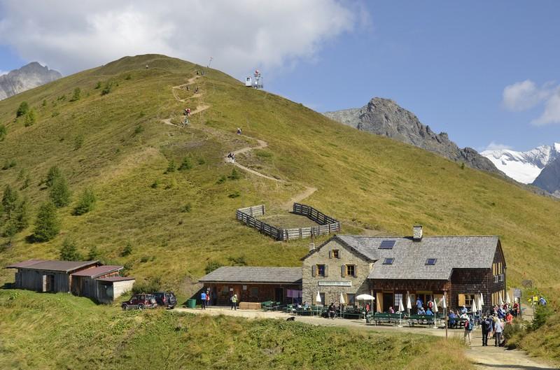 Eine Alm in Matrei in Osttirol, Österreich