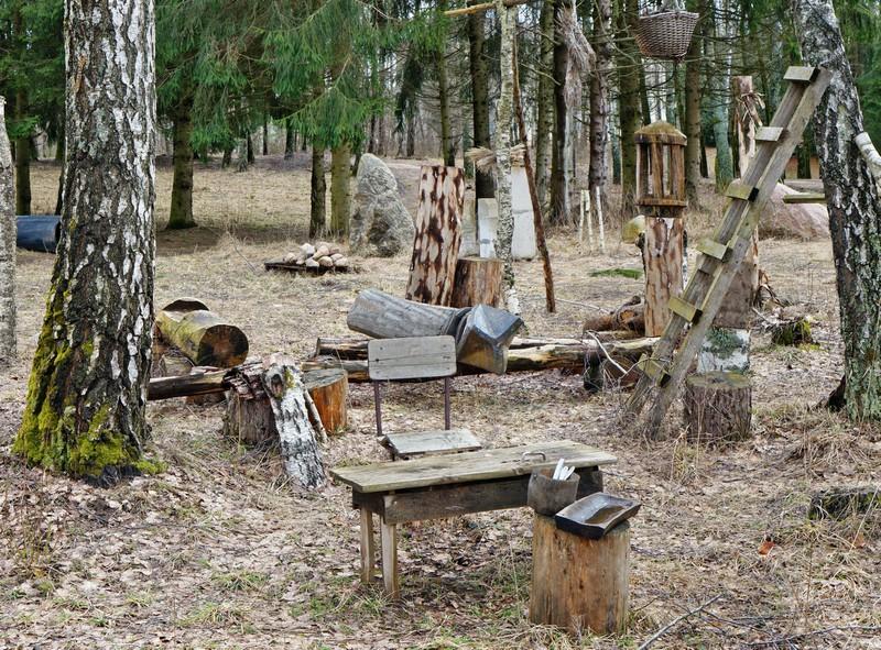 Litauischer Zeltpark für Touristen