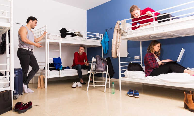 Raum mit Etagenbetten