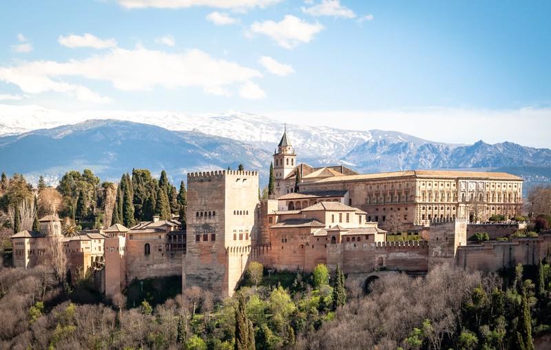 Europäisches Schloss Alhambra in Spanien