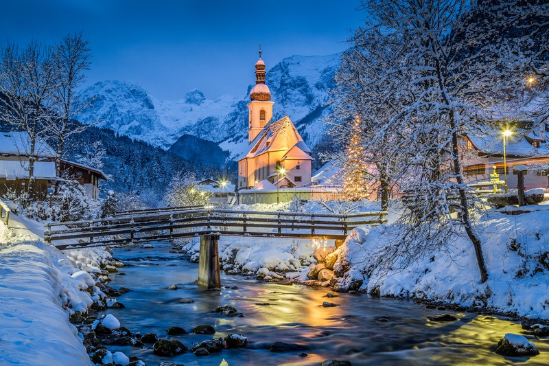 Oberbayern im Winter