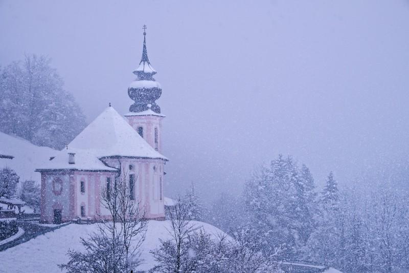 Winter Wonderland Maria Gern Im Winter, Berchtesgaden, Bayern