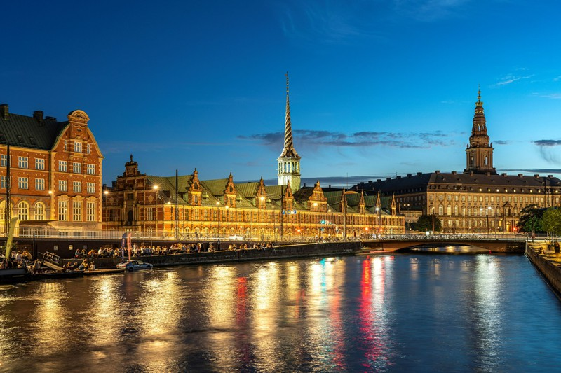 Der Kanal in Kopenhagen am Abend ist besonders schön.