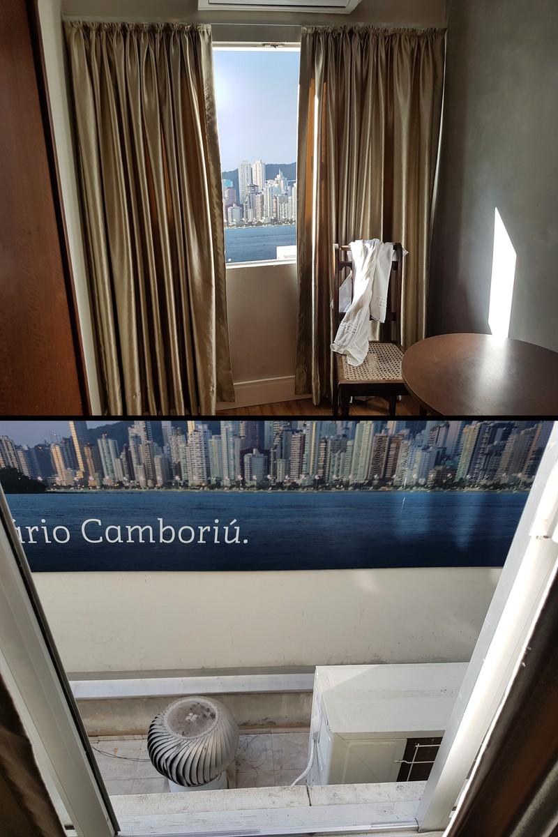Fake Aussicht aus Hotelzimmer