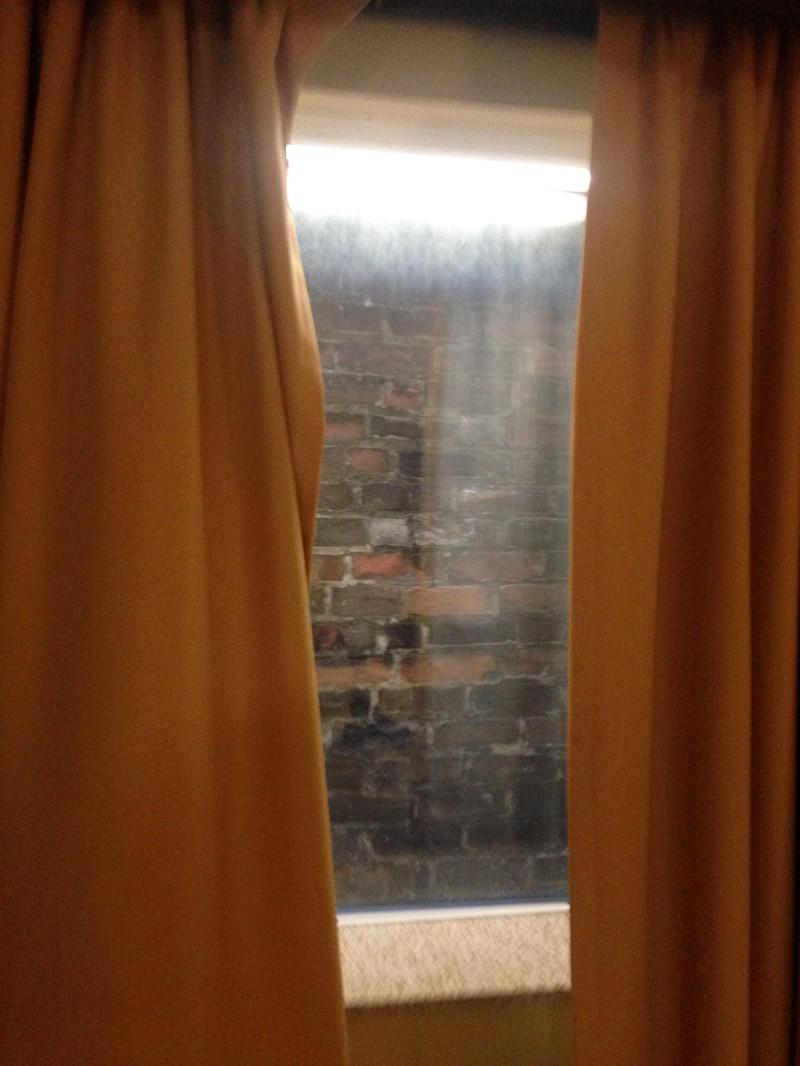 Hotelzimmer Aussicht Mauer