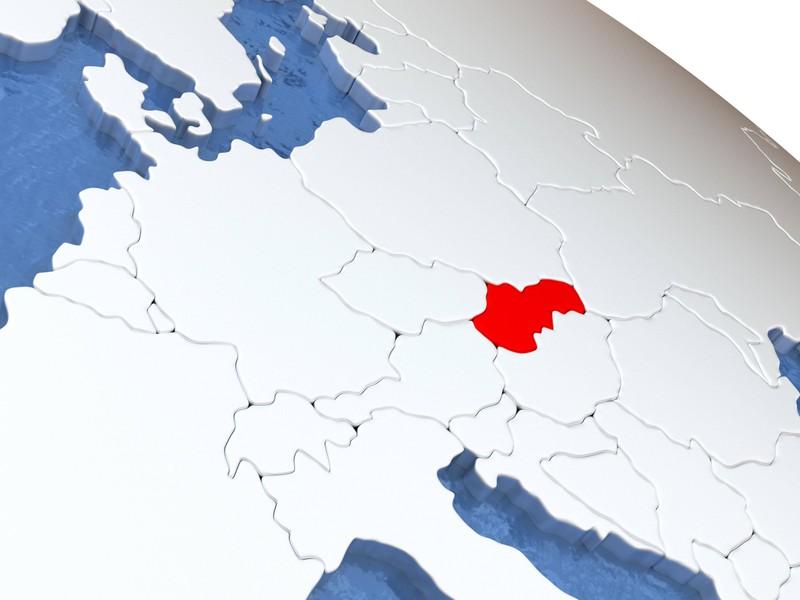 Ein kleines Land in Europa nur der Umriss