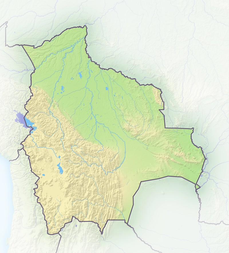 Die Karte von Bolivien