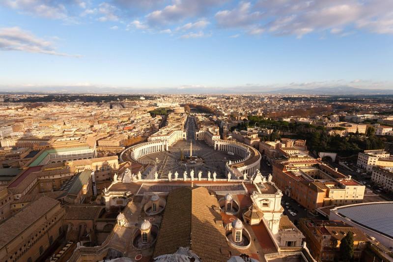 Die Vatikanstadt ist das kleinste Land der Welt