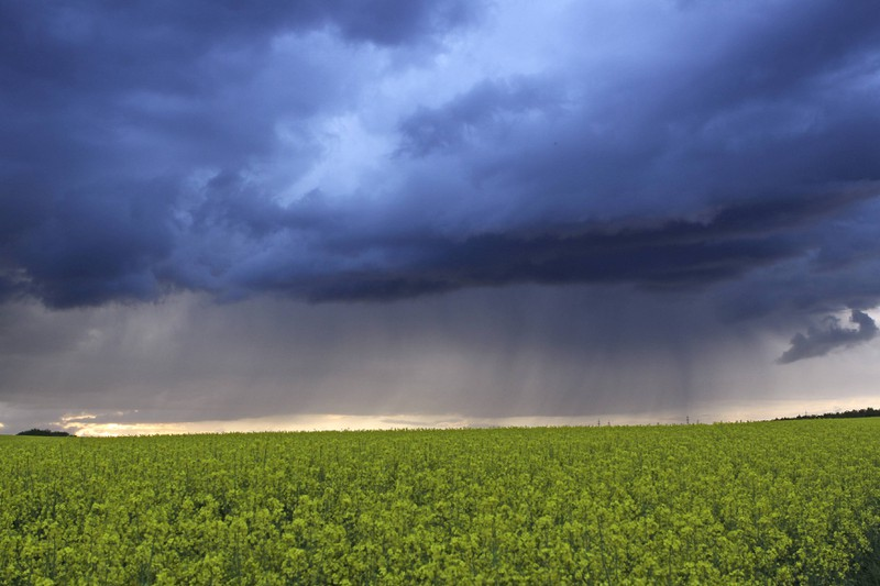 Gewitterwolken in der Troposphäre