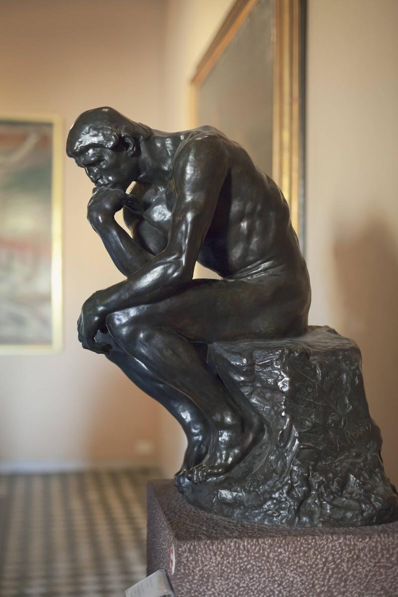 Die Denker Skulptur ist eine berühmte Sehenswürdigeit