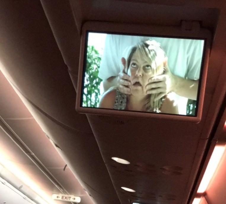 Der Anblick wird wohl alle Passagiere belustigt haben