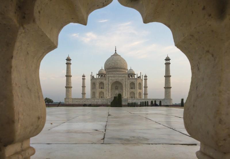 Das Taj Mahal steht in Indien. Aber wie heißt die gesuchte Hauptstadt?