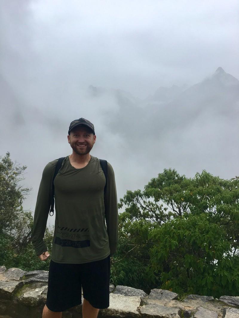 Ein Mann wollten Machu Picchu sehen