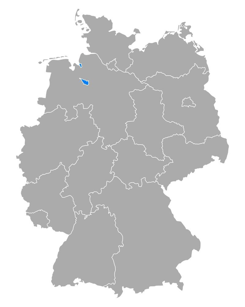 Bremen ist flächenmäßig das kleinste Bundesland.