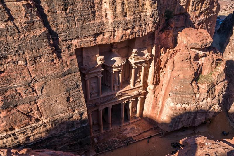 Der Eingang des Grabtempels ist wunderschön und atemberaubend.