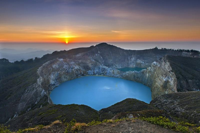 Der Mount Kelimutu in Indonesien ist wahrlich spektakulär.
