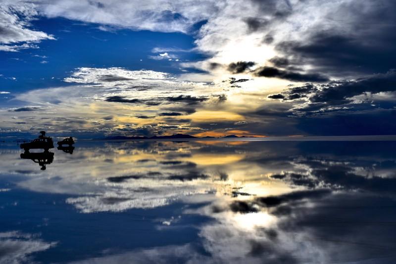 Die Spiegelung der Salar de Uyuni in Bolivien sorgt für unglaubliche Aufnahmen.
