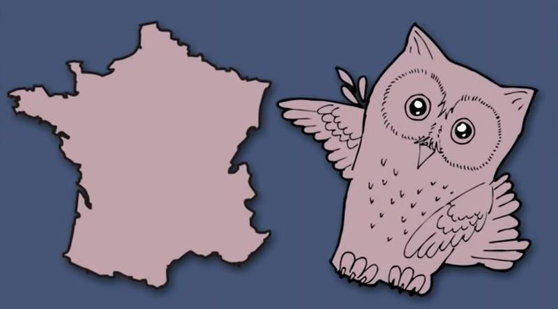 Frankreich erinnert den Künstler an eine Eule.