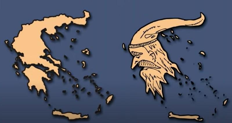 Griechenland hat etwas von einem älteren, bärtigen Mann.
