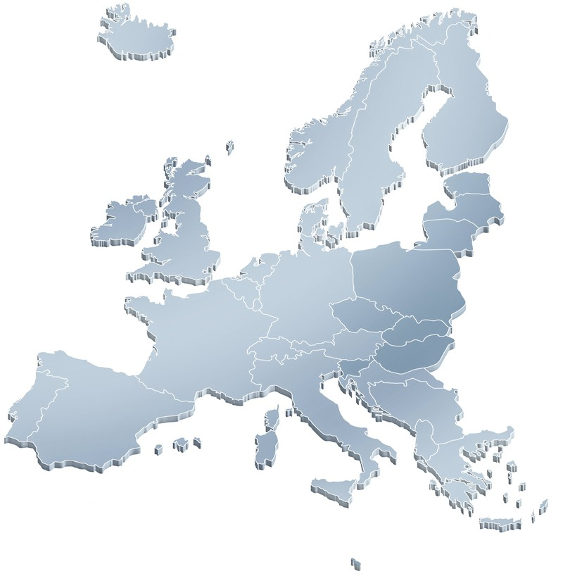 In den Umrissen der europäischen Länder kann man viel erkennen.
