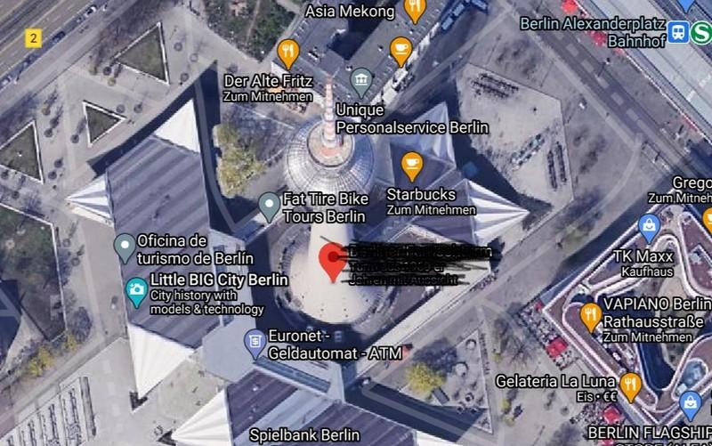 Die Sehenswürdigkeit auf dem Satellitenbild steht in Berlin.