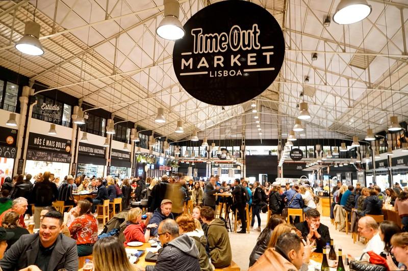 Der Time Out Market ist ein guter Street Food Markt.